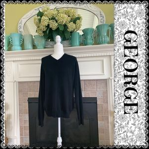 GEORGE unisex V-neck sweater 100% cashmere…